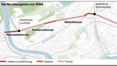 Als die Spange Nord in Luzern noch ein Tunnel war