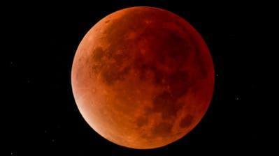 Der Mond während einer Mondfinsternis. (Bild: PD)
