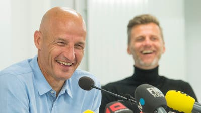 Hatte gut Lachen an der Pressekonferenz: FCSG-Trainer Peter Zeidler.