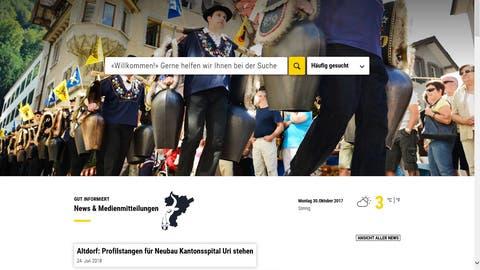 Die neue Website ist übersichtlich gestaltet. (Bild: Screenshot Homepage)