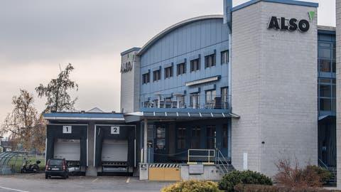 Blick auf das Firmengebäude von Also. Bild: Nadia Schärli (Emmen, 16. November 2017)