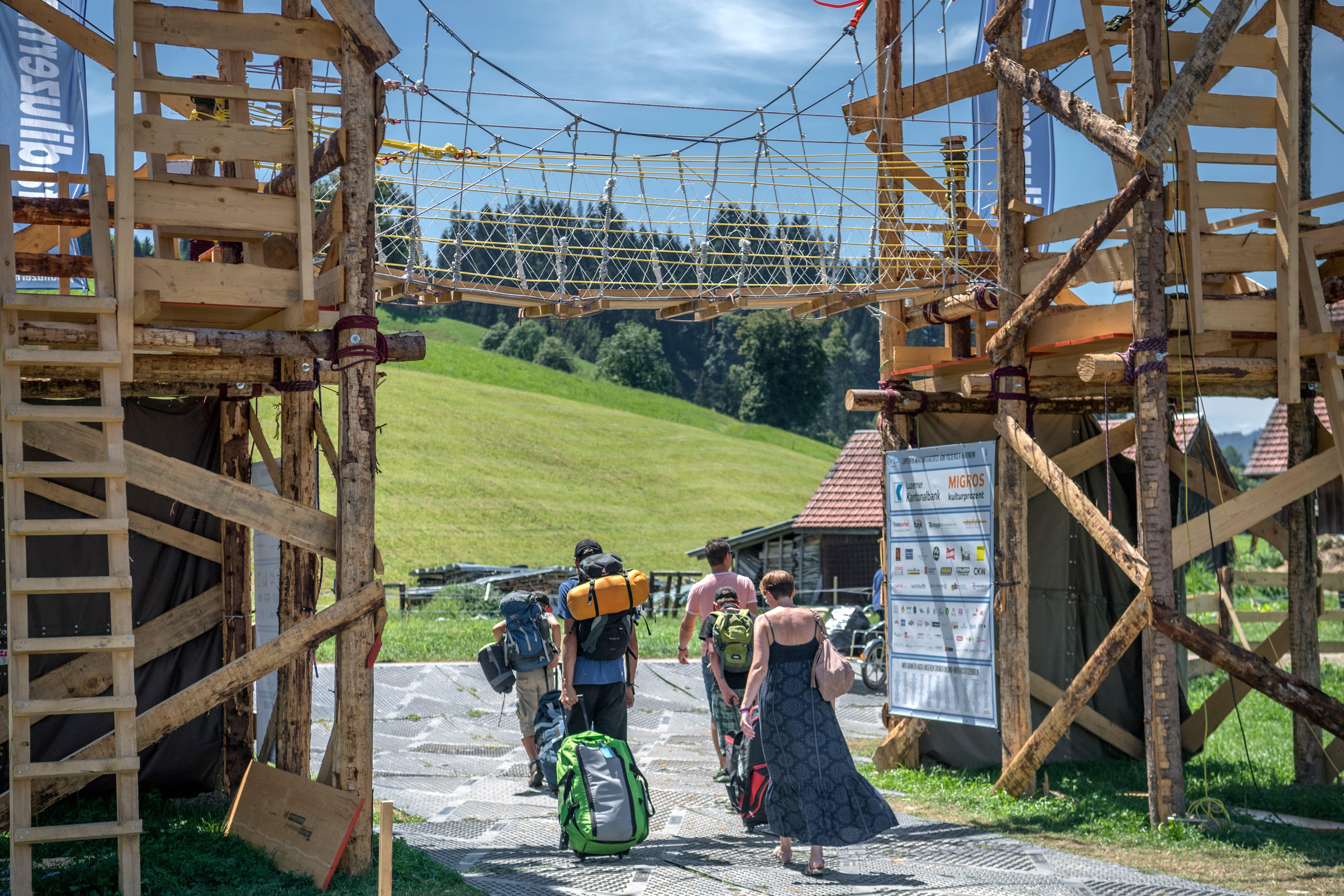 Langsam heisst's «auf Wiedersehen»: Das Kantonslager neigt sich dem Ende zu. (Bild: Pius Amrein. Escholzmatt, 27. Juli 2018)