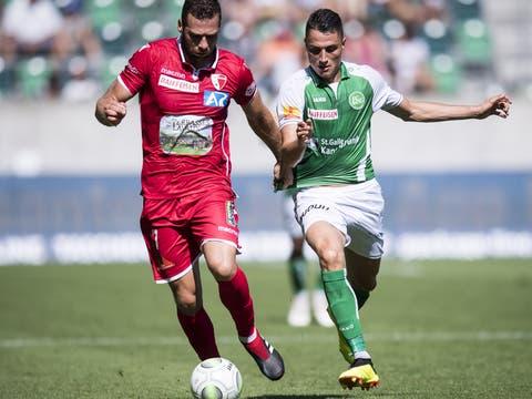 Zum Nachlesen: Der FCSG verliert gegen Sion mit 2:4