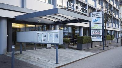 Das Gebäude der «Luzerner Zeitung» an der Maihofstrasse (Bild: Jakob Ineichen (Luzern, 23. März 2018))