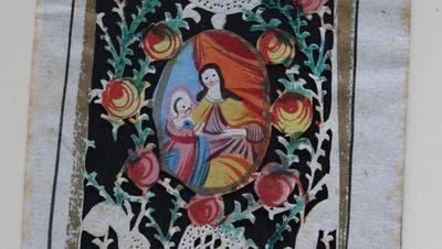 Bemalter Papierschnitt: ein Andachtsbildli zu Ehren der heiligen Anna aus St.Katharinental. (Bild: PD)