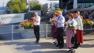 Bundesrat Schneider-Ammann läutet in Luzern den 1. August ein. (Bild: Simon Mathis)