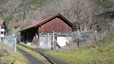 Dieser ehemalige Pferdestall im Gebiet Schützen in Silenen soll zum Katzenheim ausgebaut werden. (Bild: PD)