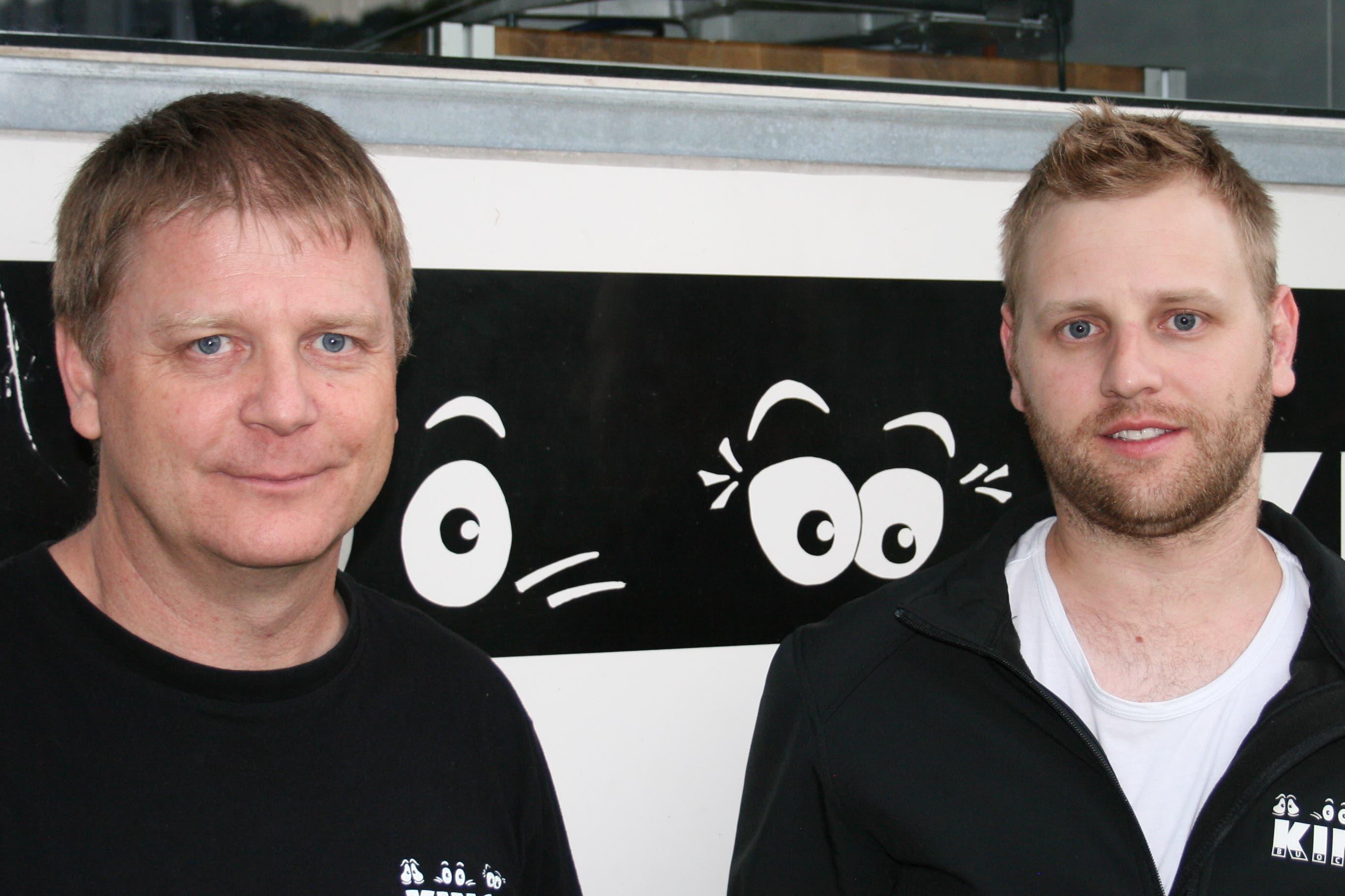 Thomas Stöckli und Rolf Hug. (Bild: Sepp Odermatt (Ennetbürgen, 2. Juli 2018))