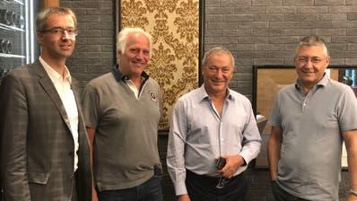 Sie gründeten die neue Marketinggesellschaft (von links): Franz-Xaver Simmen, Marcus Weber, Samih Sawiris und Rudolf Büchi.