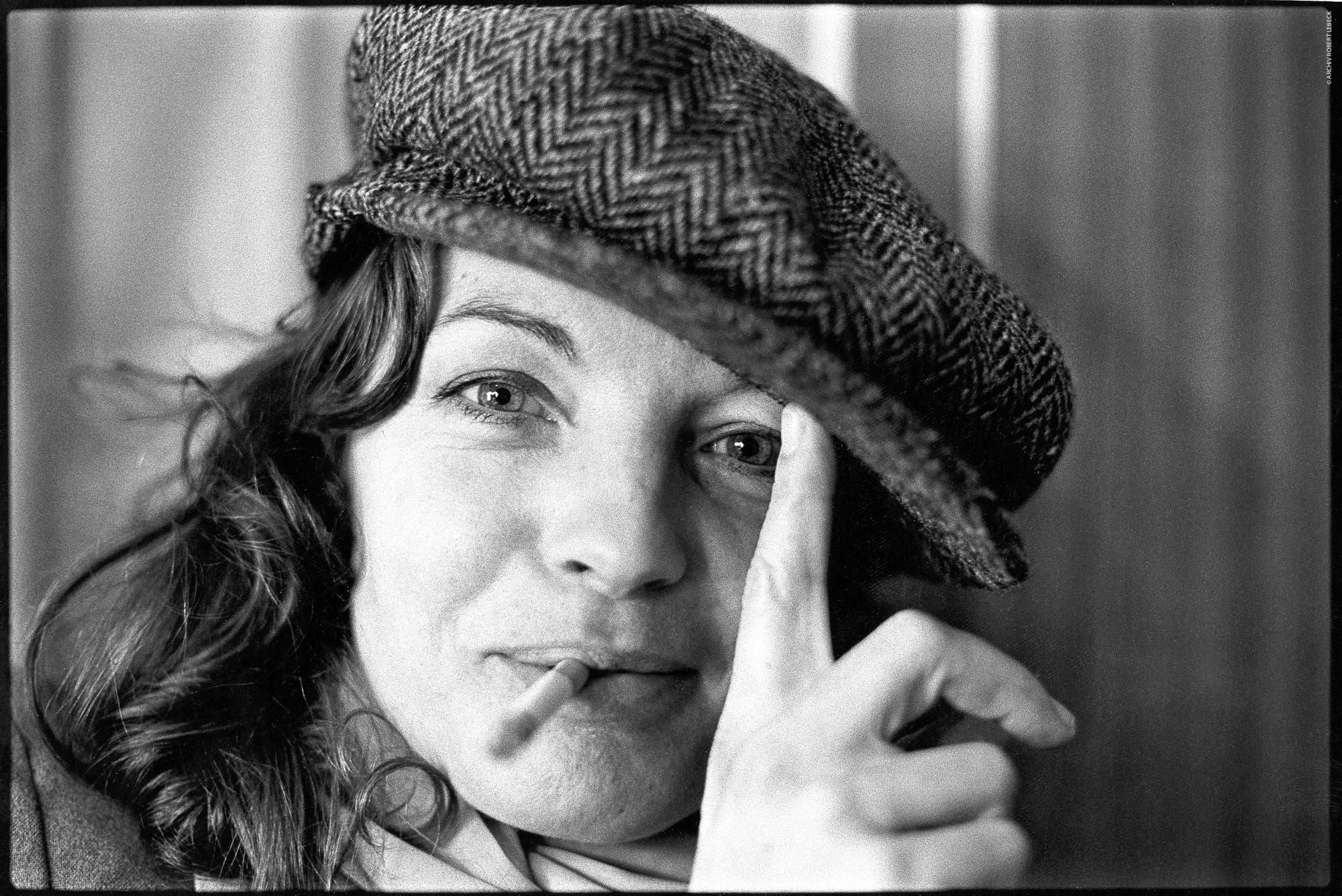 Romy Schneider, Quiberon, Bretagne 1981.                               (Bild: Archiv Robert Lebeck)