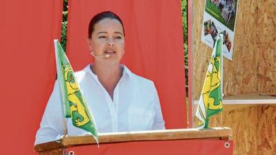 Regierungsrätin Carmen Haag hält in Eschlikon die Festansprache. (Bilder: Christoph Heer)