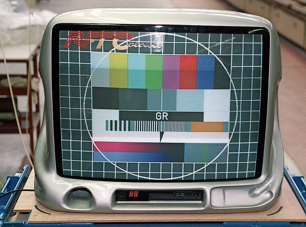 TV-Gerät, in beschränkter Zahl produziert. (Bild: Peter Förster/DPA)