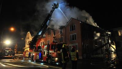 Am 6. Januar 2016 fiel das Aadorfer Restaurant Barone einem Brand zum Opfer. (Bilder: Olaf Kühne)