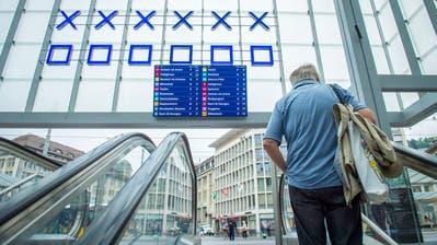 Funktionalität oder Ästhetik – was ist wichtiger? Die Platzierung der Anzeigetafel unter der binären Uhr ist umstritten. (Bild: Urs Bucher)