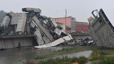 Brückeneinsturz in Genua: Mindestens 35 Tote