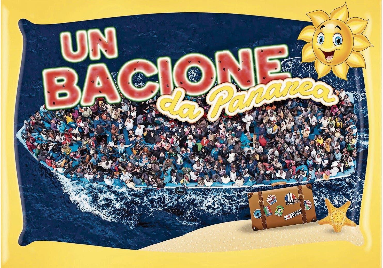 Un bacione – dicker Kuss von der sonnigen Insel Panarea: Postkarte von Gaia Zuccaro.