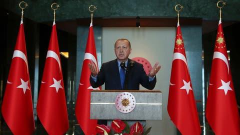 Der türkische Präsident Recep Tayyip Erdogan. Bild: AP (Istanbul, 13. August 2018)