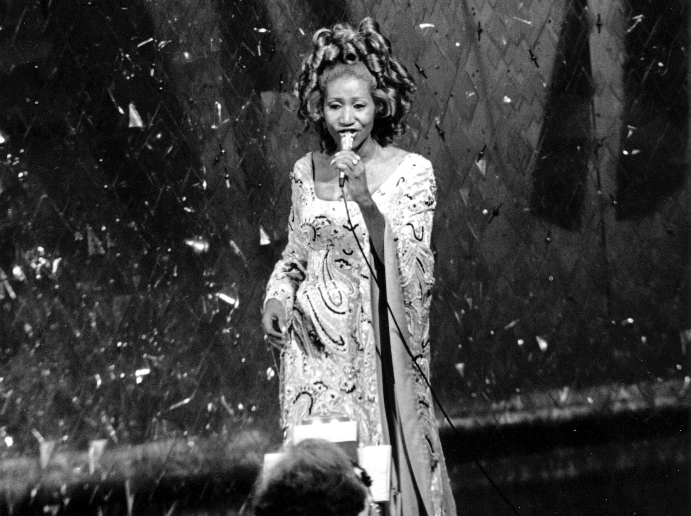 Aretha Franklin bei den Acadamy Awards 1975 in Los Angeles. (Bild: KEYSTONE/AP Photo)