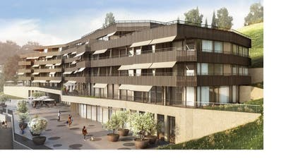 Drei neue Mehrfamilienhäuser entstehen. (Visualisierung: PD)