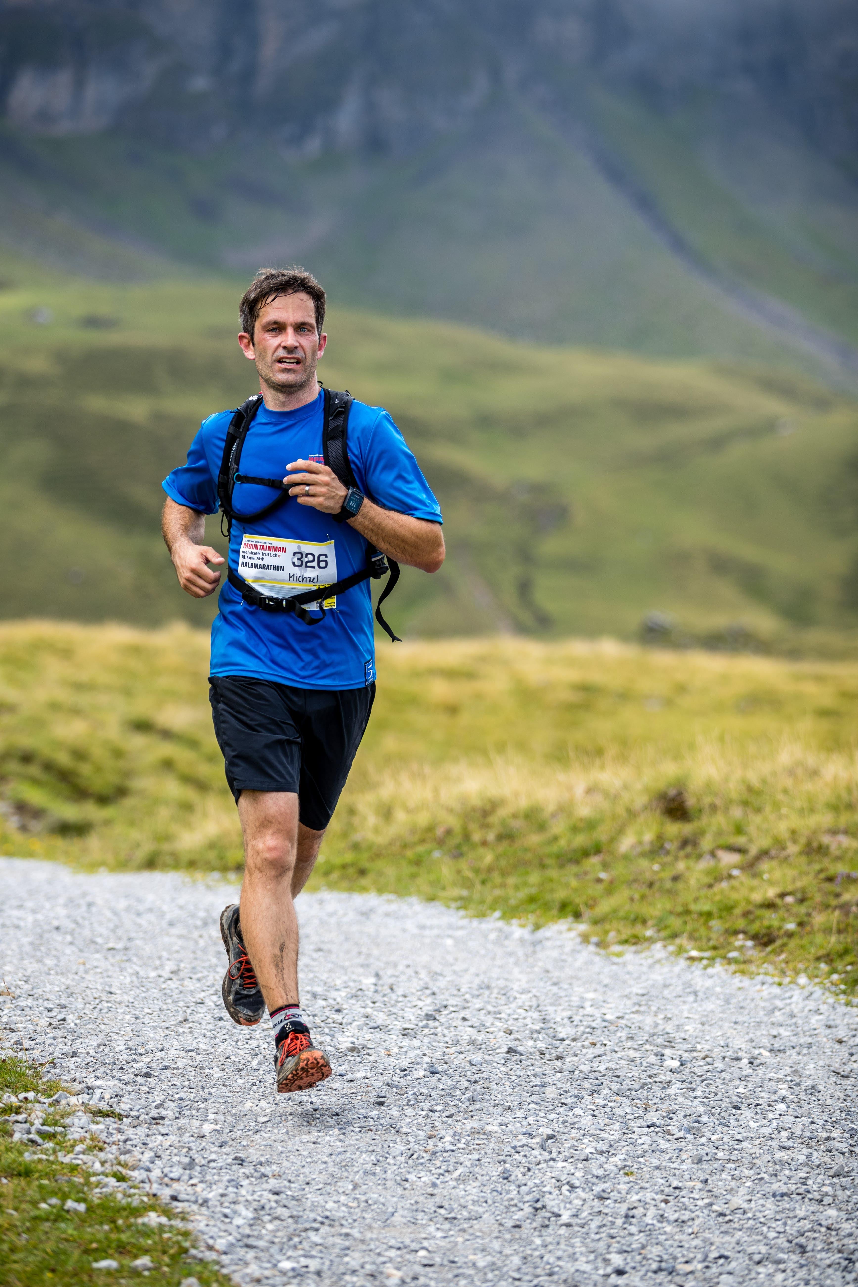 Michael Rohrer ist seit 2010 an jedem Mountainman dabei – als Läufer oder Helfer. (Bild: Philipp Schmidli (18. August 2018))