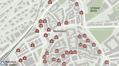 Diese 44 Ladenlokale in der St.Galler Innenstadt stehen leer