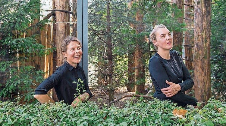 Beatrice Dörig und Andrea Vogel machen den Vögeln Konkurrenz. (Bilder: Urs Bucher)