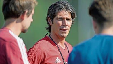 FCL-U21-Trainer Ivan Dal Santo (Mitte) will in Luzern seine Trainerkarriere lancieren. (Bild: Corinne Glanzmann (30. Juli 2018)