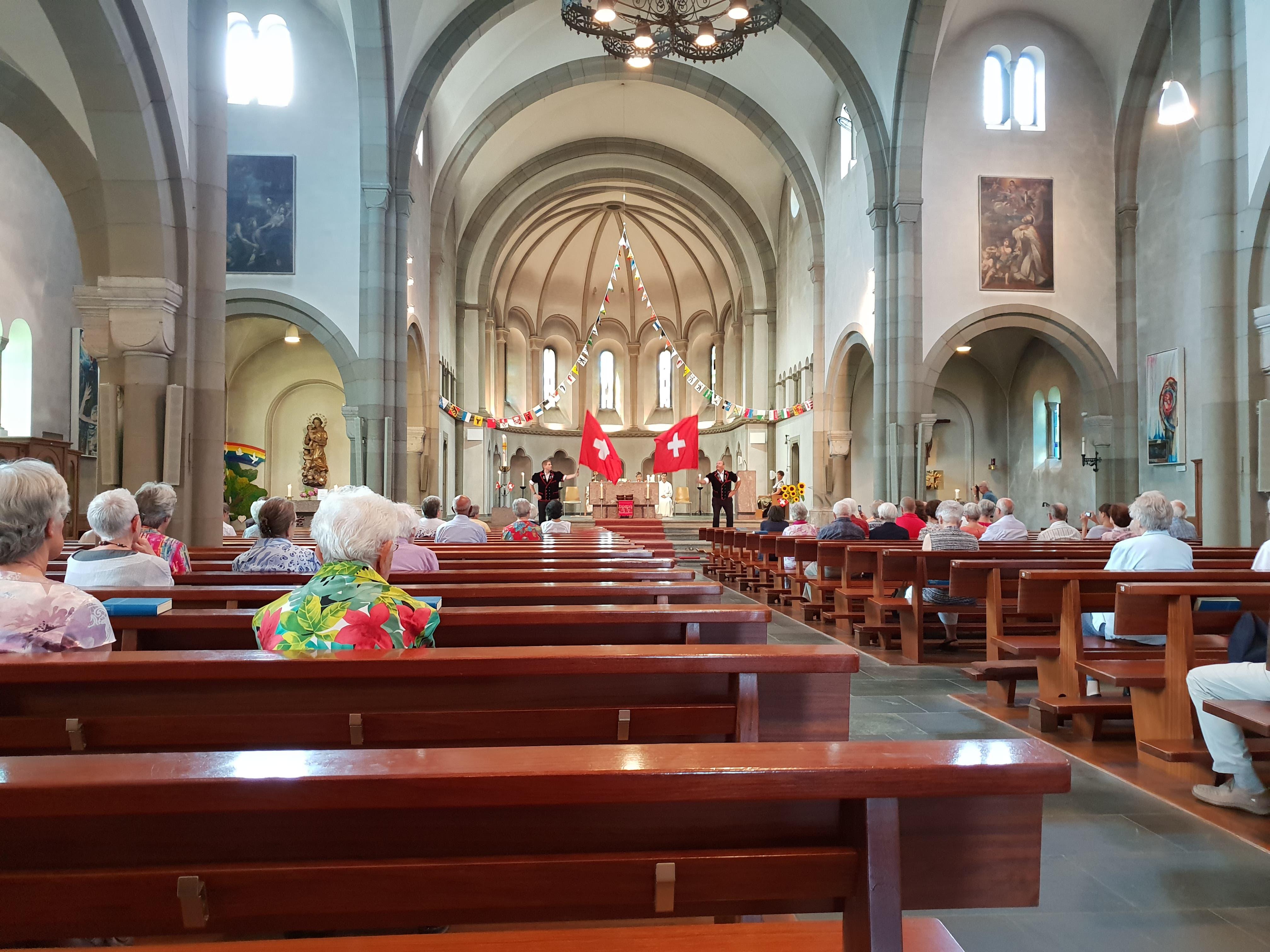 Messe zum 1. August in der Kirche Reussbühl. (Leserbild: Charles Wüest)