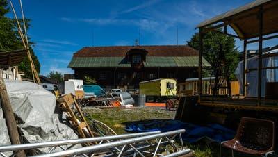 Das Eichwald-Areal in Luzern mit dem denkmalgeschützten Salzlager. (Bild: Philipp Schmidli, 25. Mai 2018)