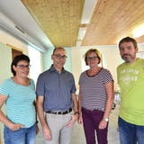 An der Gründungsversammlung einstimmig gewählt wurden Sandra Litscher als Kassierin, Martin Giger als Präsident, Heidi Saxer als Revisorin und Alex Schwendener als Aktuar (von links nach rechts).(Bild: Heini Schwendener)