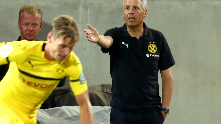 Lucien Favre braucht wohl noch einen Topstürmer.          Bild: Daniel Karmann/DPA