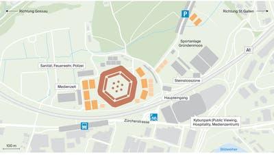 Schwingsport auf dem höchsten Niveauwie kürzlich an der Schwägalp Schwinget soll 2025 auch in St.Gallen zu sehen sein. (Bild: Urs Bucher)