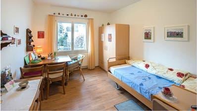 Innenansicht eines Zimmers, wie es in der Wohnzwischenlösung des Baus des Pflegeheims Wier in Ebnat-Kappel aussehen könnte. (Bild: PD)