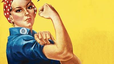 Die 2.-Weltkrieg-Kunstfigur «Rosie, die Nieterin» ist ein bekanntes feministisches Symbol. In Luzern wirbt man mit ihr für mehr Frauen in der Politik. (Bild: Getty)