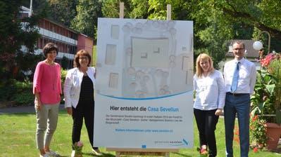 Claudia Billet, Annemarie Ammann, Andrea Fischlmayr und Roland Ledergerber (von links) bei der Präsentation. (Bild: Bianca Helbling)