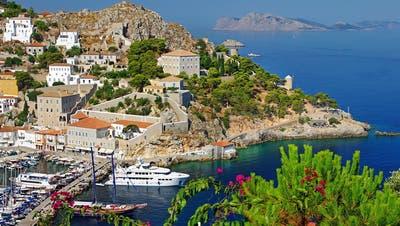 Ohne Strom und Trinkwasser: Die griechische Insel Hydra (Bild: PD)