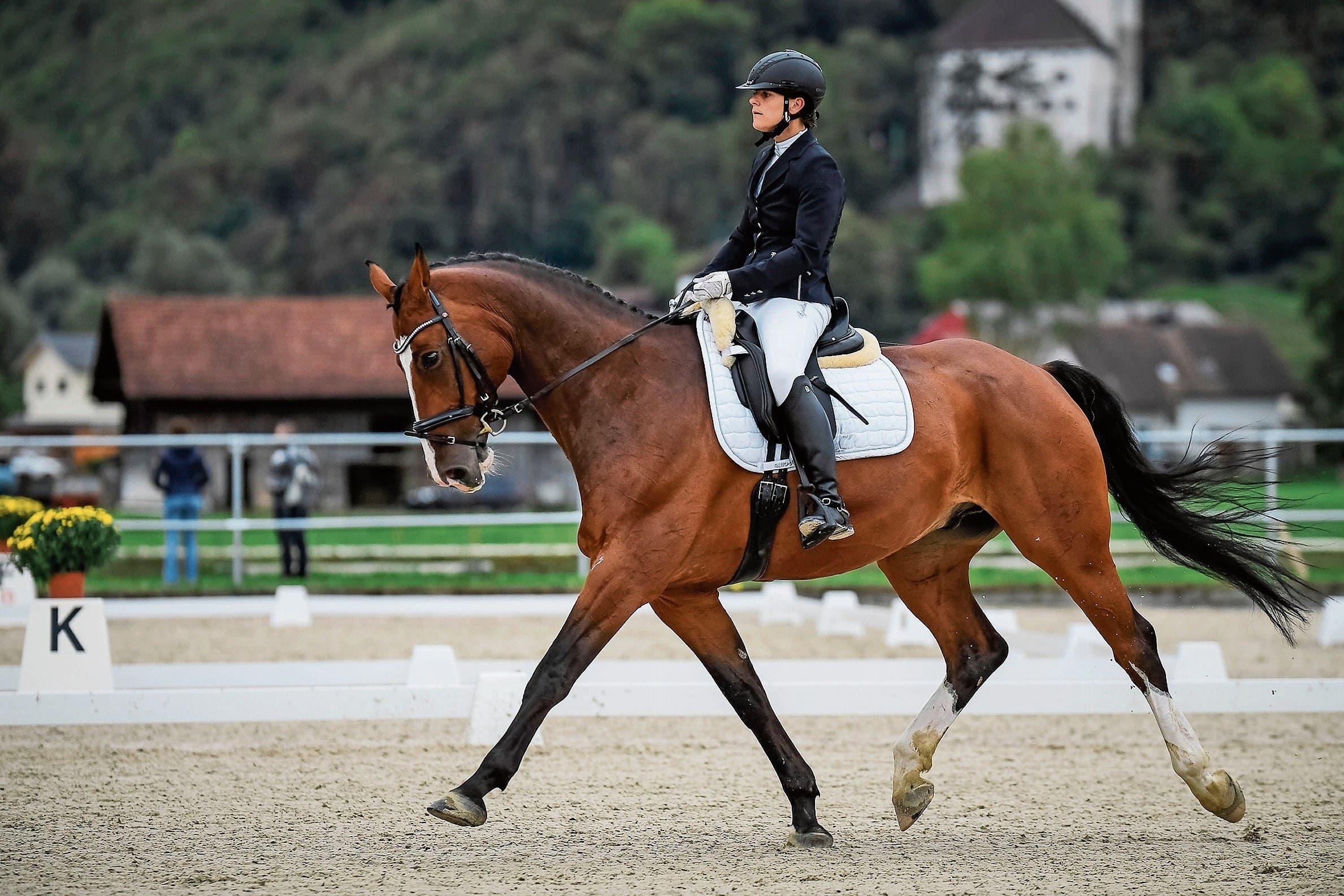 Die Liechtensteinerin Ramona Schreiber gewann Silber in der Stufe 1. (Bild: Bilder: Katja Stuppia/Corinne Hanselmann)