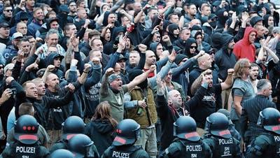Treibjagd auf Migranten durch Chemnitz
