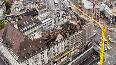 Noch viele Unklarheiten nach Grossbrand in Zürich