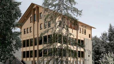 So soll das neue Gasthaus Hergiswald aussehen, sobald es fertigist. (Bild: PD)