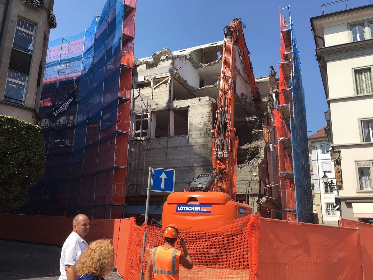 Die Bausünde in der Altstadt verschwindet in den nächsten Wochen.
