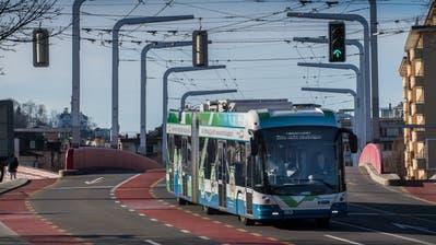 Die VBL testet einen neuen Trolleybus. Fotografiert am 14. März 2018 in Luzern.LZ Boris Bürgisser