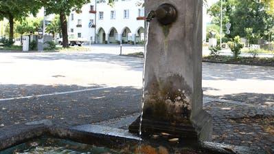 Die Brunnen der Stadt Amriswil bleiben vorläufig in Betrieb, um den Tieren den Zugang zum Wasser zu erhalten. (Bild: Rita Kohn)