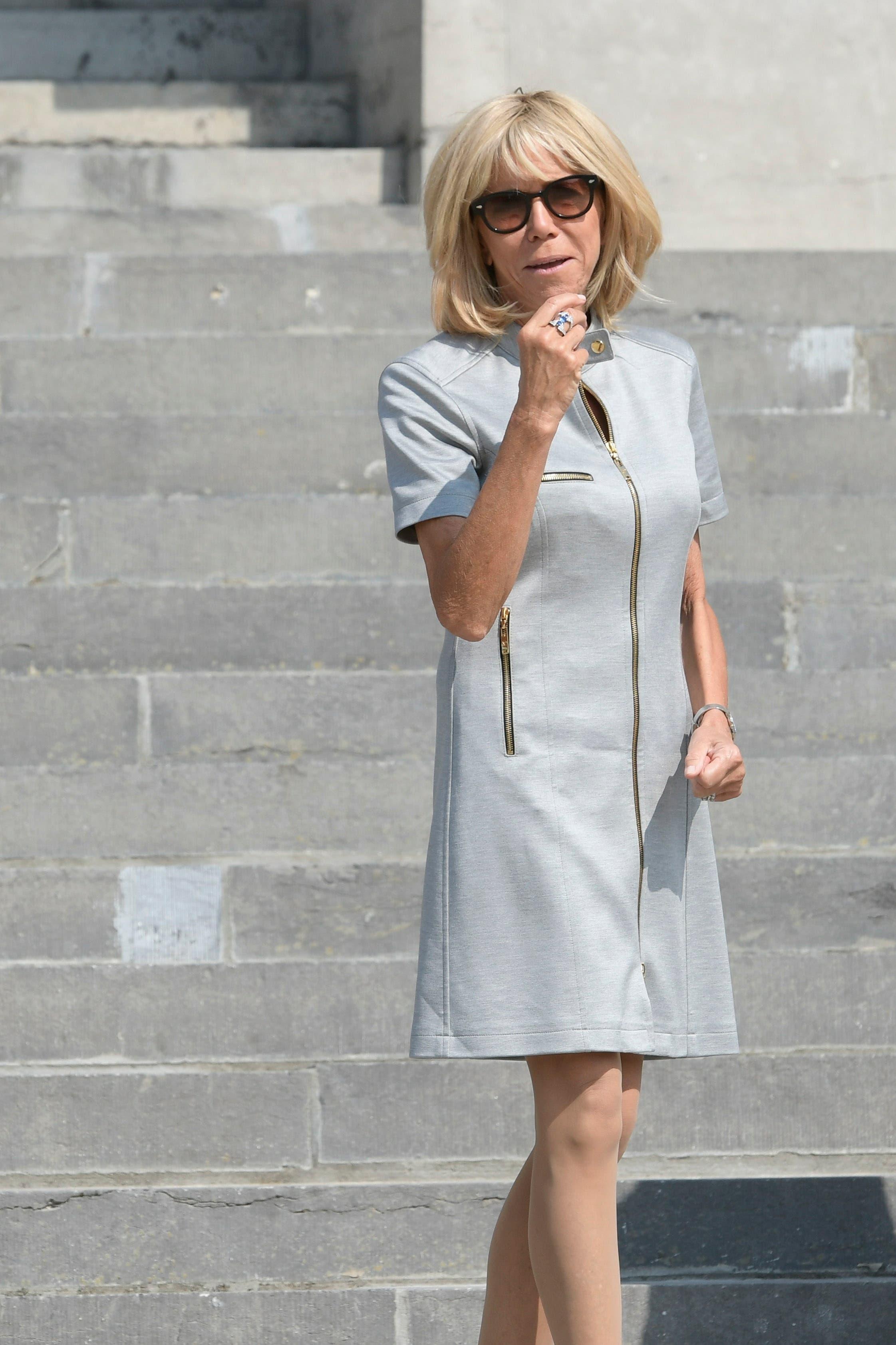 Die französische First Lady Brigitte Macron. (Bild: epa)