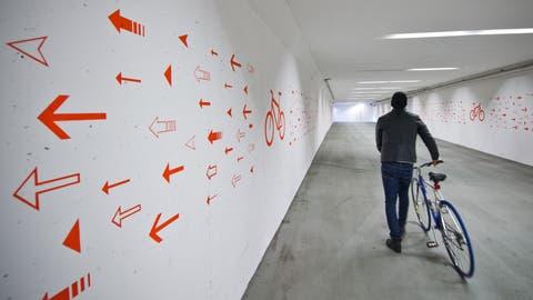 Dieser Teil des altenPosttunnels ist heute schon für Velos geöffnet. (Bild: Dominik Wunderli, 28. Oktober 2014)