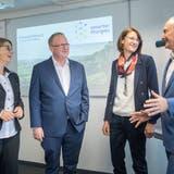 Vorstandsmitglieder des Vereins Smarter Thurgau: Jolanda Eichenberger, Kurt Brunnschweiler, Maike Scherrer und Manfred Spiegel.