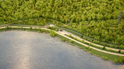 Das Modell zeigt den Bereich des künftigen Südportals am Ende des Kaiserstuhl-Tunnels. (Bild: PD)