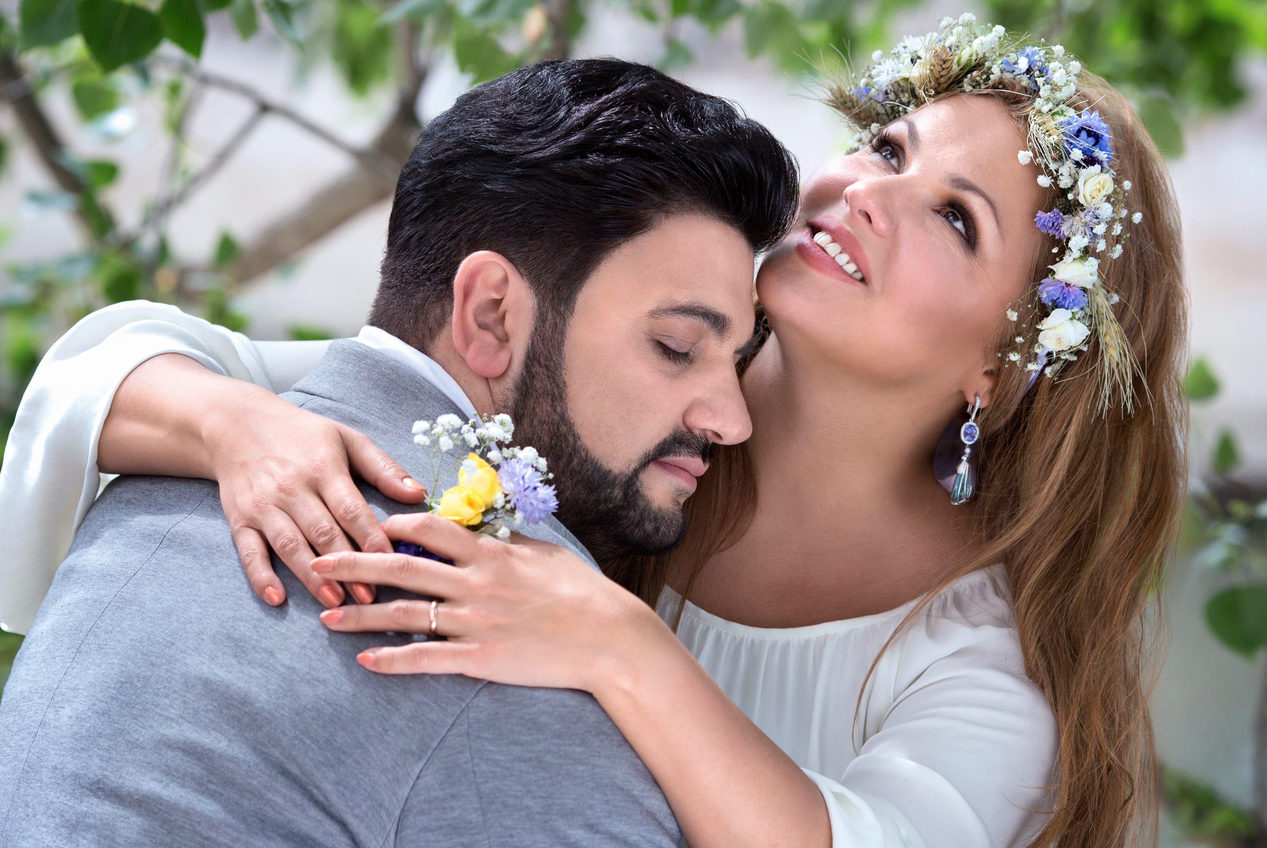 Mit ihrem Ehemann, dem Tenor Yusif Eyvazov. (Bild: Vladimir Shirokov)