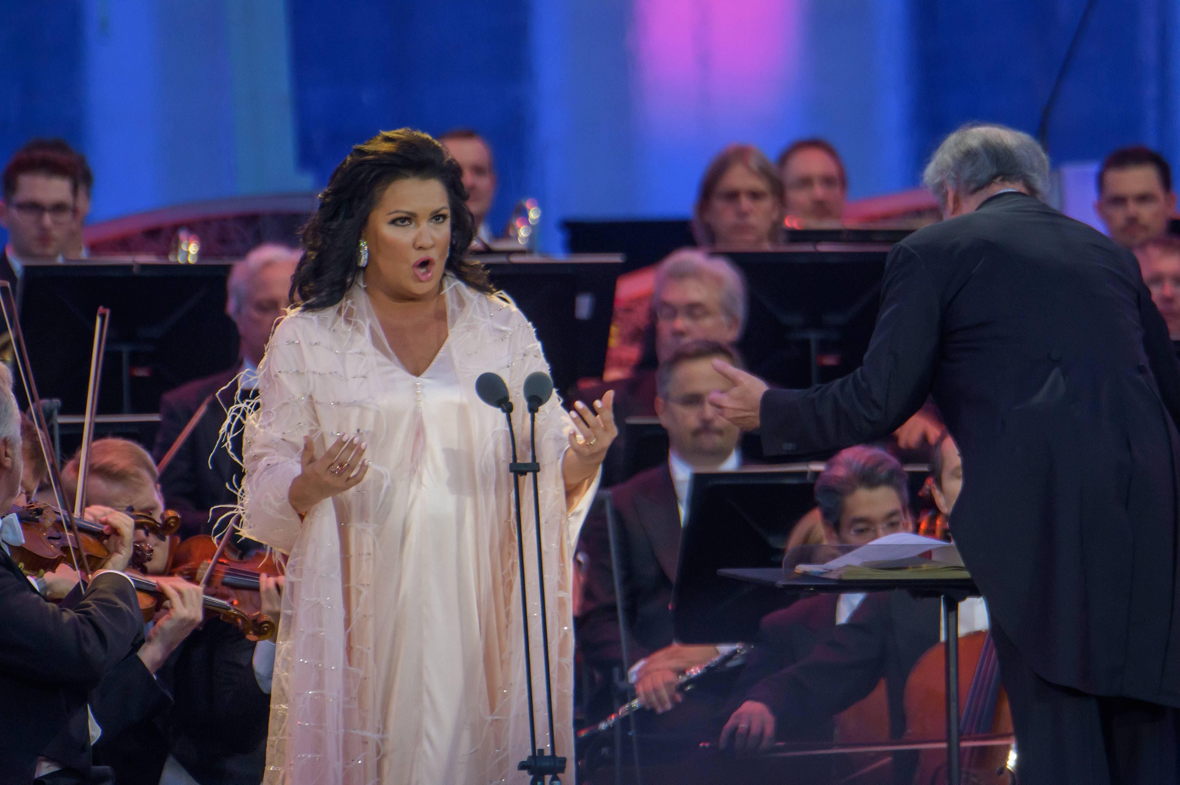 Opernstar Anna Netrebko am Sommernachtskonzert der Wiener Philharmoniker. (Bild: Imago, Wien, 31. Mai 2018)