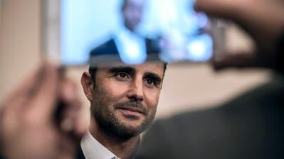 Die von ihm im Jahr 2008 gestohlenen Daten beschäftigen das Bundesgericht weiterhin: Ex-Bankmitarbeiter Hervé Falciani. ((Bild: Jean-Philippe Ksiazek/AFP (Divonne-les-Bains, 28. Oktober 2015))